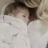 Mies & Co baby lifestyle Swaddle Little Dreams hydrofiele doek wit vogels