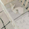 Mies & Co Baby crib sheet Geo Circles offwhite wit wieg laken met grafische print