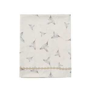 Mies & Co baby lifestyle sheet Little Dreams offwhite lakentje wit vogeltjes