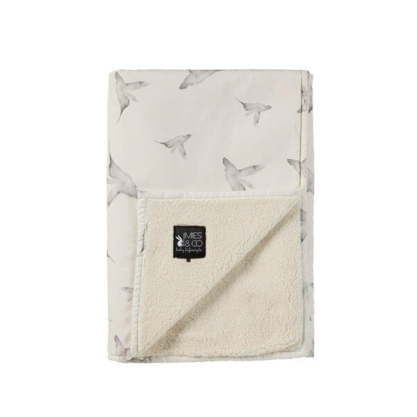 Mies & Co baby lifestyle Soft Teddy blanket Little Dreams offwhite deken wit zacht vogels