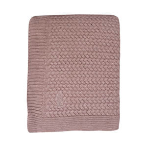Soft knitted blanket cradle/cot pale pink Mies & Co baby lifestyle