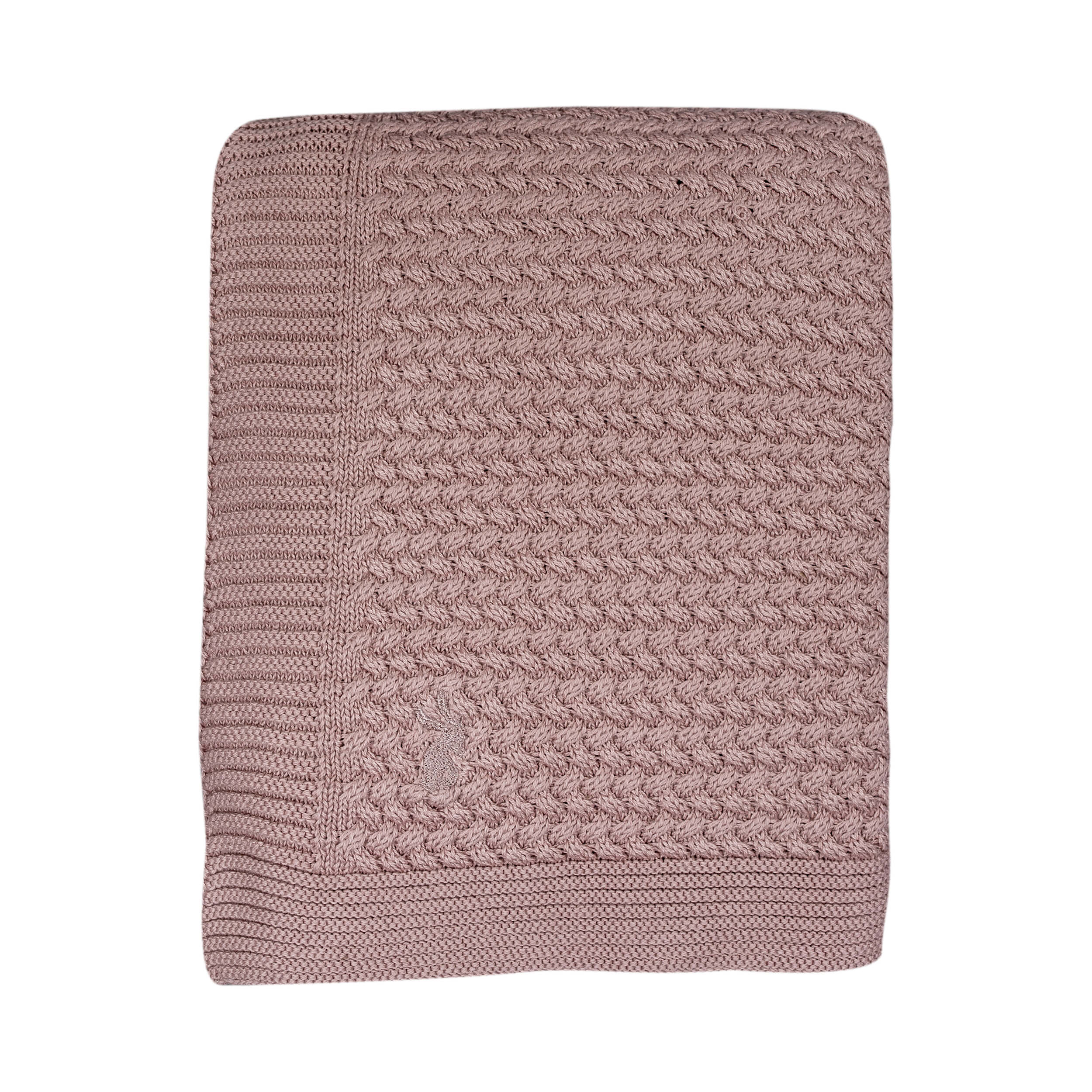 Deken Baby Ledikant.Soft Knitted Blanket Big Pale Pink