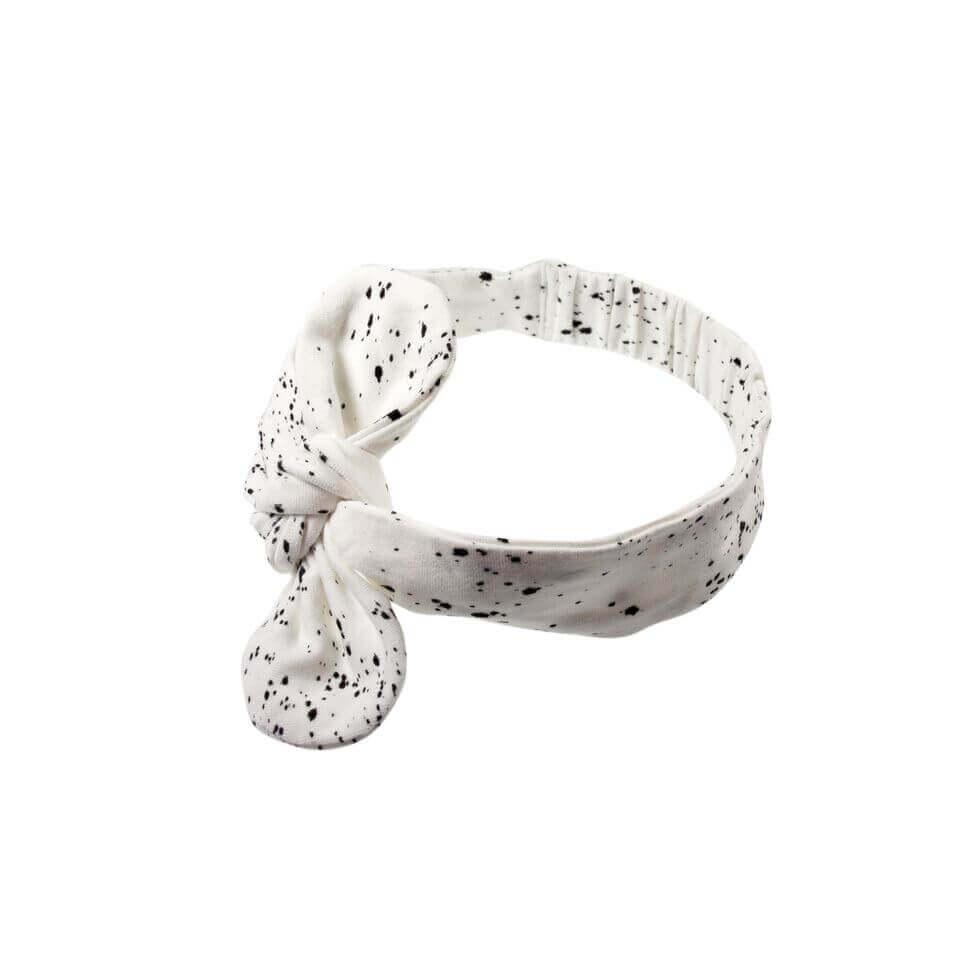 Mies & Co hair ribbon Galaxy offwhite. Wit haarbandje met sterrenprint