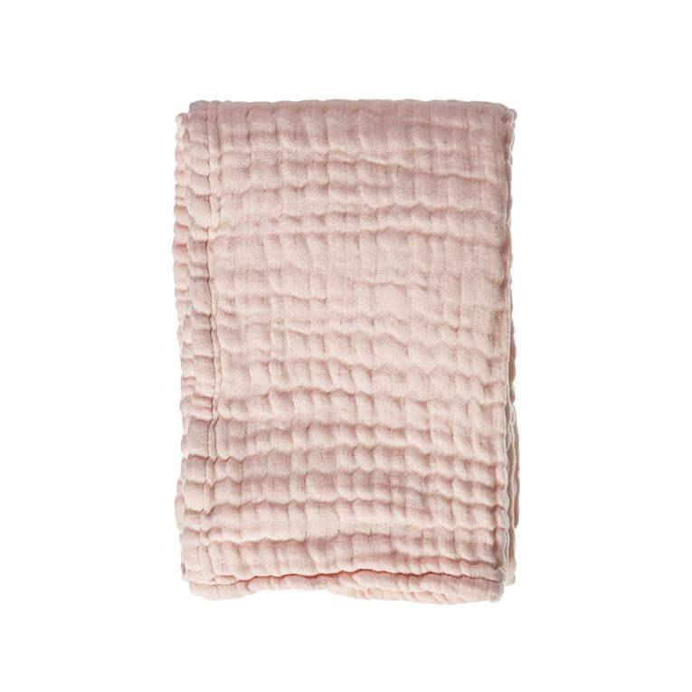 mousseline wiegdeken roze