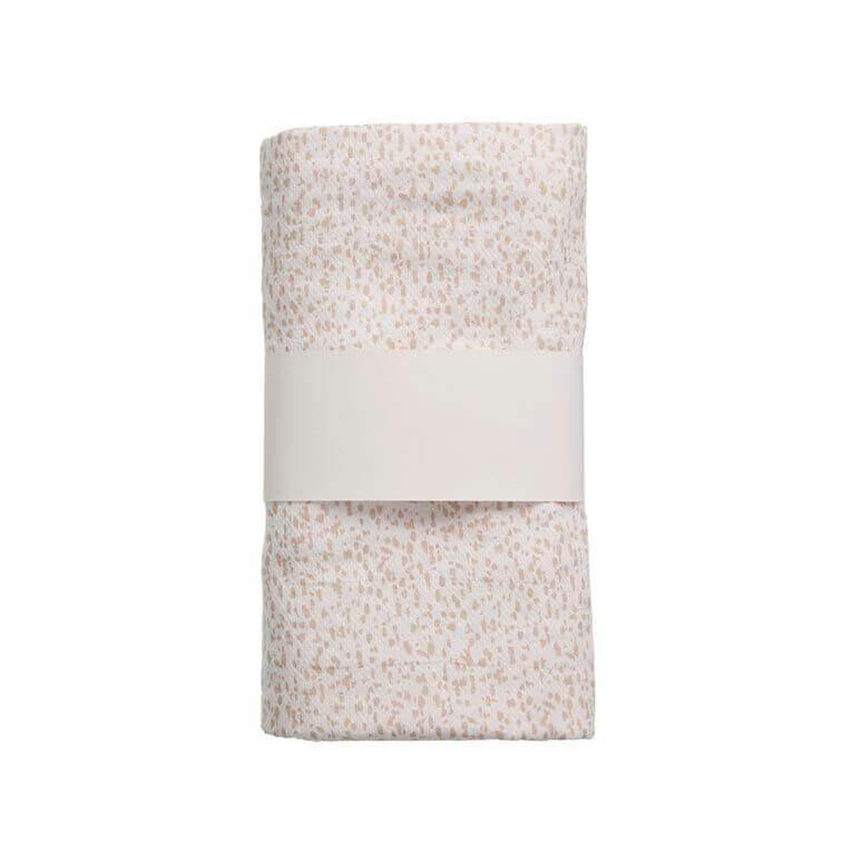 hydrofiele doek XL wit met roze